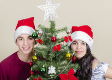 Christmas Portrait Stock Image