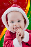 Christmas portrait of a baby girl Stock Image