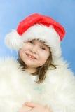 Christmas portrait of a beautiful child Stock Photos