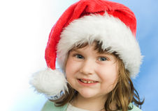 Christmas portrait of a beautiful child Royalty Free Stock Photo