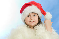 Christmas portrait of a beautiful child Royalty Free Stock Image