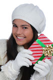 Christmas Portrait Female Teenager Royalty Free Stock Photo