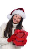 Christmas Portrait Female Teenager Royalty Free Stock Images