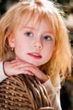 Christmas. Portrait of a Girl. close-up Royalty Free Stock Images