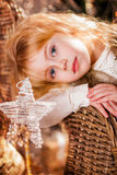 Christmas. Portrait of a Girl. close-up Royalty Free Stock Image