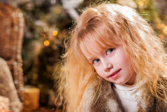 Christmas. Portrait of a Girl. close-up Royalty Free Stock Photo