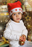 Christmas portrait of a little child Stock Images