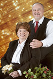 Christmas Portrait of a Mature Couple Royalty Free Stock Photography