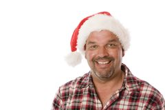 Middle Aged Christmas Portrait. royalty free stock image