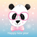 Christmas portrait of a panda Royalty Free Stock Photography