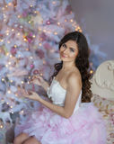 Christmas Portrait in pink Royalty Free Stock Photos