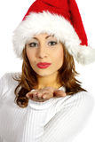 Christmas portrait of a woman Royalty Free Stock Images