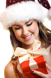 Christmas portrait of a woman Royalty Free Stock Photography