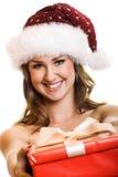Christmas portrait of a woman Stock Photos