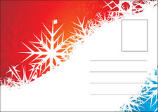 Christmas post card. With space of your text, vector illustration royalty free illustration