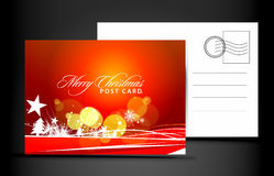 Christmas post card. Isolated on illustration background, illustration royalty free illustration