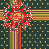 Christmas post card. Vector illustration Royalty Free Stock Images