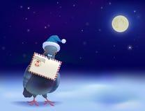 Christmas Post Pigeon Stock Image