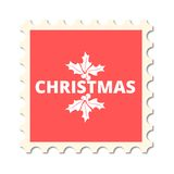 Christmas post stamp Royalty Free Stock Images