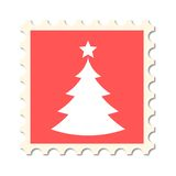 Christmas post stamp Royalty Free Stock Photo