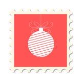 Christmas post stamp royalty free illustration