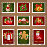Christmas postage. Royalty Free Stock Image