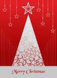 Christmas postage card background vector illustration