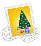 Christmas postage stamp Royalty Free Stock Image