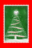 Christmas Postage Stamp Stock Photography
