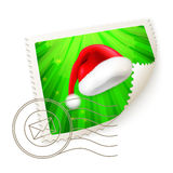 Christmas Postage Stamp. Illustration on white Royalty Free Stock Photos