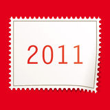 Christmas postage stamps. Illustration for your design Royalty Free Stock Image