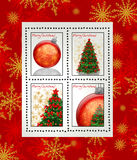 Christmas postage stamps. A picture of Christmas postage stamps Stock Images
