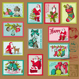 Christmas Postage Stamps Royalty Free Stock Image