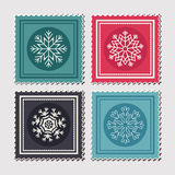 Christmas postage stamps Stock Photography