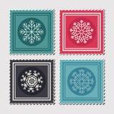 Christmas postage stamps Stock Photography