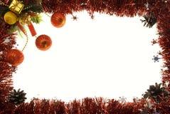Christmas postcard. Decored christmas postcard for your copy text stock photo