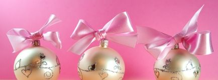 Christmas postcard. Christmas decoration close-up with christmas balls on pink background stock images