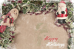 Christmas postcard 2012 Stock Image