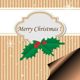 Christmas postcard Royalty Free Stock Image
