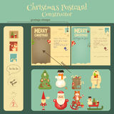 Christmas Postcard Costructor Stock Photos