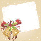 Christmas postcard with cute jingle bells Stock Image
