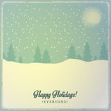 Christmas postcard decoration background. Happy new year message Royalty Free Stock Photography