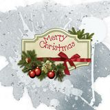 Christmas postcard stock image