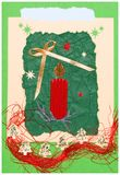 Christmas postcard handmade. With the space for typing in: Merry Christmas Stock Images