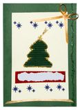 Christmas postcard handmade Royalty Free Stock Photo