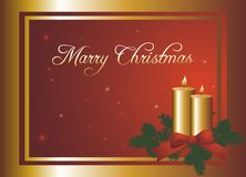 Christmas postcard illustration Stock Photo
