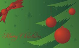 Christmas postcard illustration Royalty Free Stock Photography