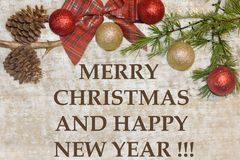 christmas postcard merry christmas and happy new year greetings card wallpaper