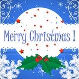 Christmas postcard with mistletoe royalty free stock image