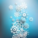 Christmas postcard with paper snowflakes. EPS 10 Stock Photography